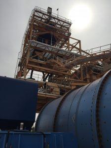 Karlawinda ball mill and cyclone tower